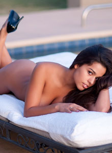 Devine One Alexandria Strips Naked And Lays Out In The Sun On A Lounge Chair Nude - Picture 8
