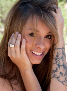 Petite Devine One Riley Jensen Is Playing Around Outside Completely Nude - Picture 6