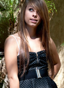 Cute Devine Ones Teen Riley Jensen Flashes Her Perky Tits Out In Public - Picture 1