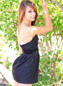 Cute Devine Ones Teen Riley Jensen Flashes Her Perky Tits Out In Public - Picture 9