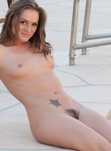 Sexy Devine Ones Babe Tori Black Masturbates By The Pool With Her New Favorite Toy - Picture 1