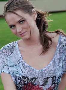 Beautiful Devine Ones Babe Tori Black Flashes Her Perky Tits Outdoors In Public - Picture 3